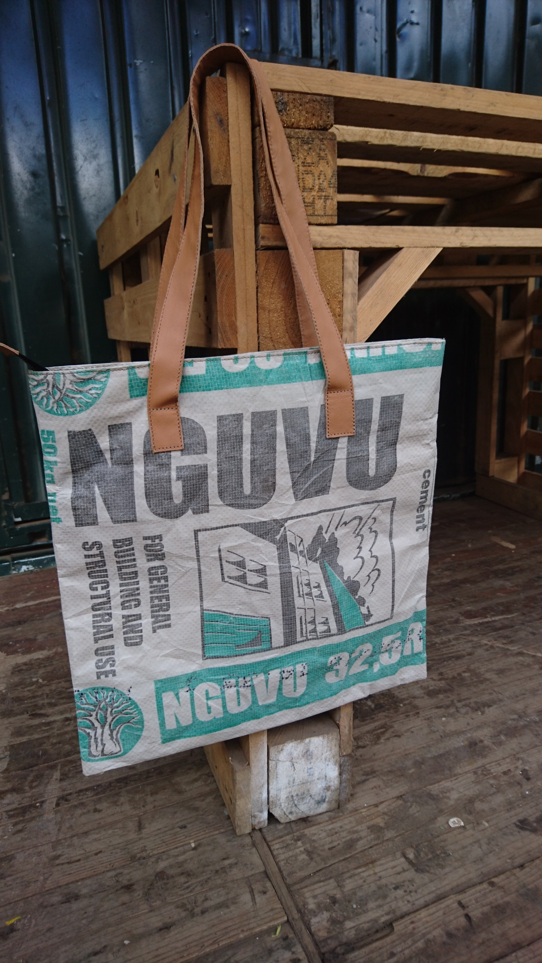 Recycled Cement bag tote